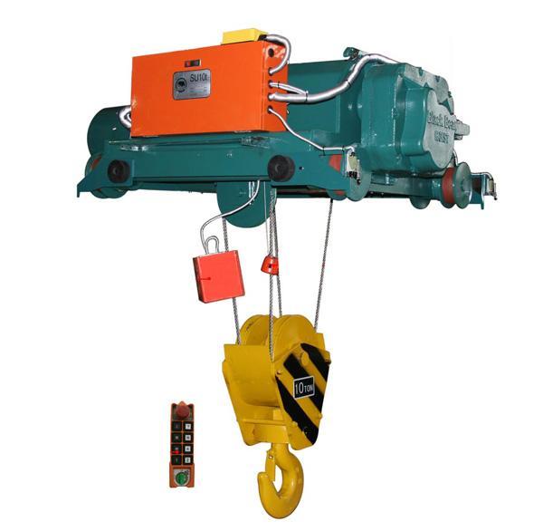 黑熊电动葫芦主要结构:   减速器,起升电机,运行电机,断火器,电缆滑线